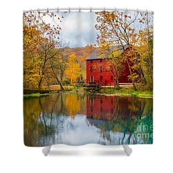Alley Mill And Spring Shower Curtain