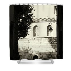 Shower Curtain featuring the photograph Alley Mystery by Rasma Bertz