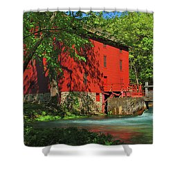 Alley Spring Mill Shower Curtain