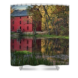 Alley Spring Mill Fall Mo Dsc09240 Shower Curtain