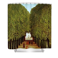 Alleyway In The Park Shower Curtain by Henri Rousseau