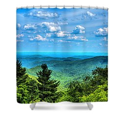 Alligator Back Overlook Shower Curtain by Dale R Carlson