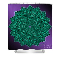 Alligator-dragon Tail Shower Curtain