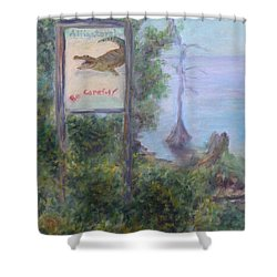 Alligators   Be Careful Shower Curtain