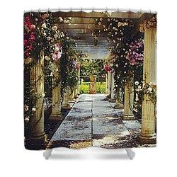 A Gilded Rose Garden  Shower Curtain
