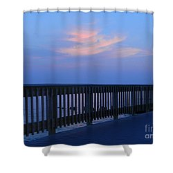 Alls Quiet On The Beach Front Shower Curtain