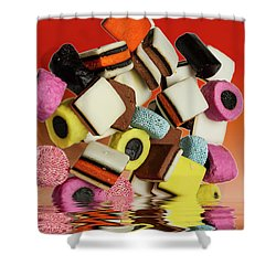 Allsorts Sweets Shower Curtain by David French