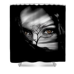 Allure Of Arabia Brown Shower Curtain