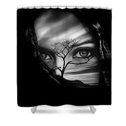 Allure Of Arabia Green Shower Curtain by ISAW Gallery