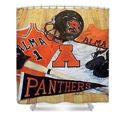 Alma High School Athletics Shower Curtain