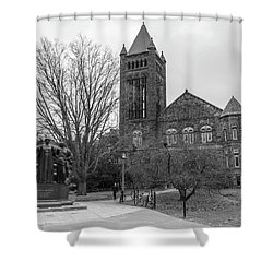 Alma Mater And Law Library University Of Illinois  Shower Curtain