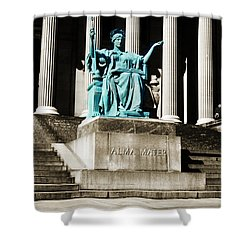 Alma Mater Shower Curtain by Marilyn Hunt