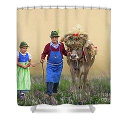 Almabtrieb Shower Curtain