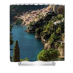Almalfi Coast Shower Curtain by Brian Jannsen