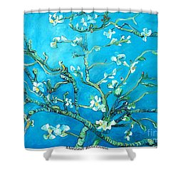 Almond Blossom Shower Curtain by Eric  Schiabor