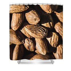 Shower Curtain featuring the photograph Almond Nuts by Jorgo Photography - Wall Art Gallery