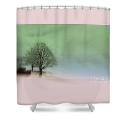 Shower Curtain featuring the photograph Almost A Dream - Winter In Switzerland by Susanne Van Hulst