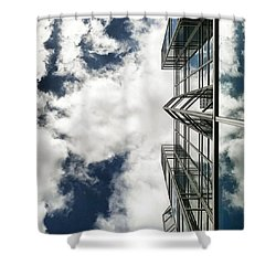 Urban Cloudscape Shower Curtain