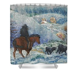 Almost Home Shower Curtain by Dawn Senior-Trask