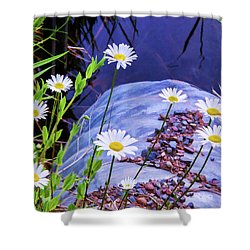 Almost In The Drink Shower Curtain by Susan Crossman Buscho