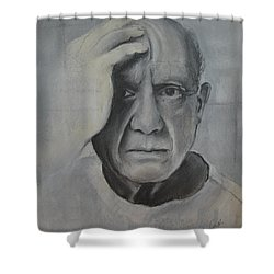 Almost Picasso Shower Curtain