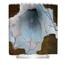 Almost Real Shower Curtain by Constance Krejci