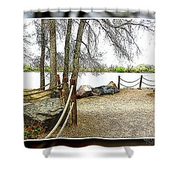 Almost Spring At Lafayette Lake Shower Curtain
