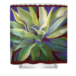 Aloe Plants In Big Sur Shower Curtain