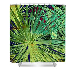 Aloe Vera Plant Shower Curtain by Susanne Van Hulst