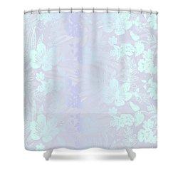 Aloha Damask Gray Aqua Shower Curtain