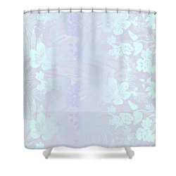 Aloha Damask Gray Aqua Shower Curtain