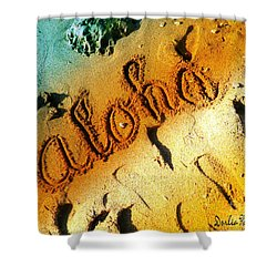 Aloha In The Sand Shower Curtain