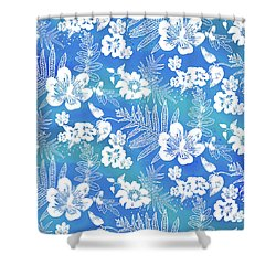 Aloha Lace Kaua'i Blue Shower Curtain