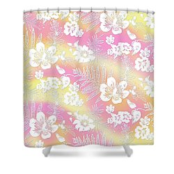 Aloha Lace Passion Guava Sorbet Shower Curtain