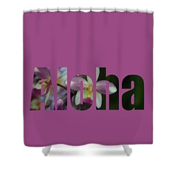 Shower Curtain featuring the photograph Aloha Orchids Type by Kerri Ligatich