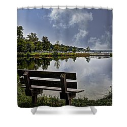 Shower Curtain featuring the photograph Alone Again by Deborah Klubertanz