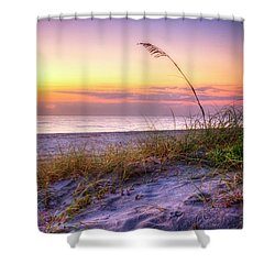 Shower Curtain featuring the photograph Alone At Dawn by Debra and Dave Vanderlaan