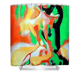 Alone At Night Shower Curtain