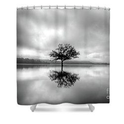 Shower Curtain featuring the photograph Alone Bw by Douglas Stucky