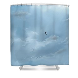 Shower Curtain featuring the digital art Alone by Darren Cannell