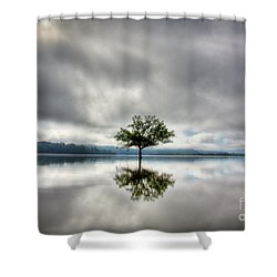 Shower Curtain featuring the photograph Alone by Douglas Stucky