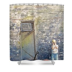 Alone Shower Curtain by Gale Cochran-Smith