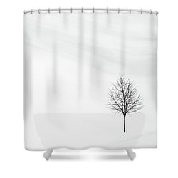 Alone In The Storm Shower Curtain