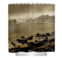 Shower Curtain featuring the photograph Alone In The Mist by Iris Greenwell