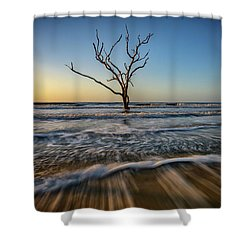 Shower Curtain featuring the photograph Alone In The Water by Rick Berk