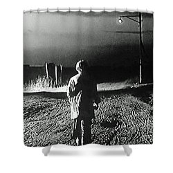 Shower Curtain featuring the photograph Alone by Lyric Lucas