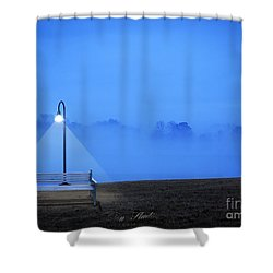 Alone Shower Curtain by Melissa Messick