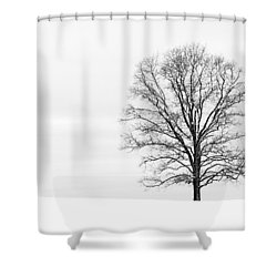 Alone On A Hill Shower Curtain