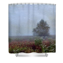 Shower Curtain featuring the photograph Alone On A Hill by John Rivera