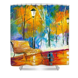 Alone Time Shower Curtain by Jessilyn Park